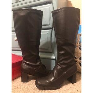 Aerosoles Cardinal Dark brown leather heel boots